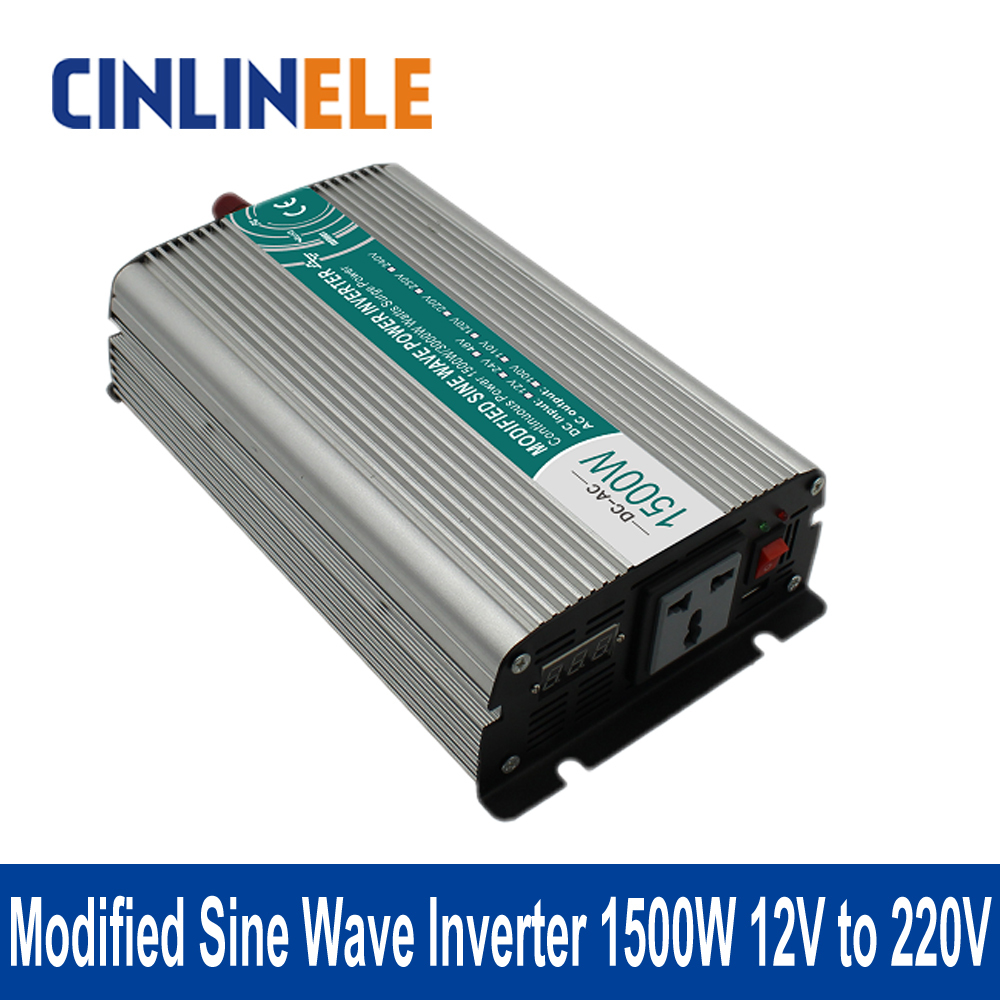 ФОТО Shine Series Modified Sine Wave Inverter 1500W CLM1500A-122 DC 12V to AC 220V 1500W Surge Power 3000W