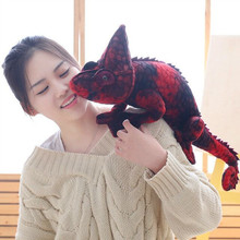 1pc 70cm Simulation Dinosaur Plush Toys Stuffed Chameleon Soft Toys for Children Creative Sofa Pillow Dolls Cool Birthday Gift