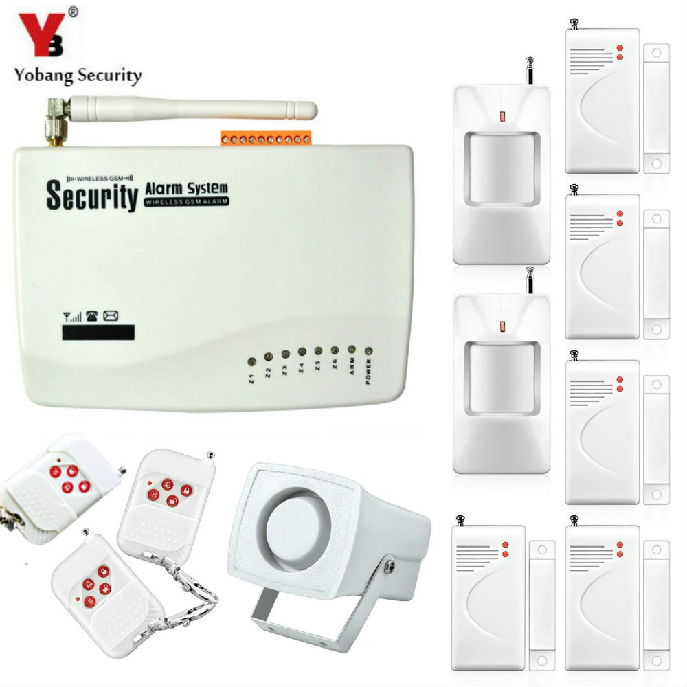 Yobang Security Wireless wired Home Security GSM Alarm System with PIR montion Dual Antenna Alarm Home Alarm with PIR detector yobang security wireless gsm