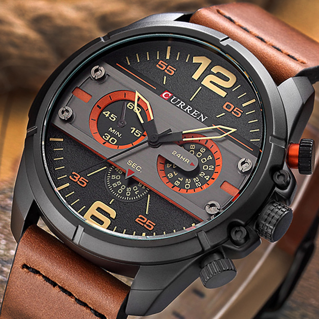 GemäßIgt New Curren Männer Uhr Luxus Leder Quarz Handgelenk Uhren Männlichen Wasserdichte Armee Militär Uhr Männer Sport Analog Uhr Geschenk 8259 Uhren