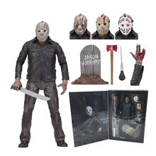 Originele NECA Friday The 13th Jason 2009 Remake Voorhees Deluxe Edition Ultimate Action Figure Speelgoed Horror Gift(China)