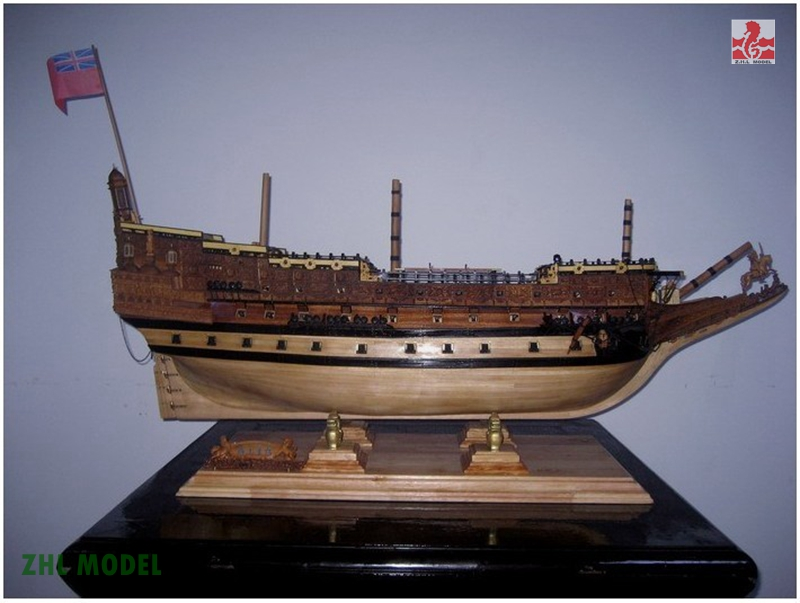 ZHL Sovereign of the Seas model ship wood