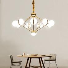 цены Modern LED pendant lights living room suspended lamp loft luminaires Nordic dining room lighting fixtures iron hanging lights