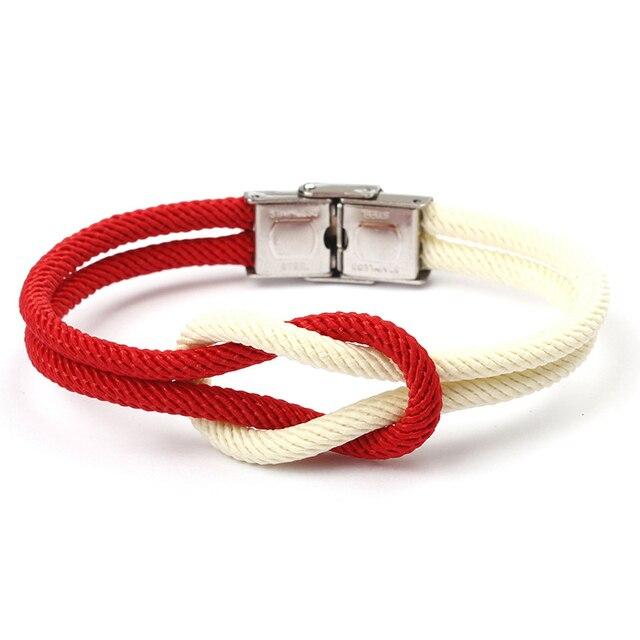 Nautischen Sailor Marine Seil Knoten Armband Armreif Armband Freundschaft Armbänder für Junge Mädchen Frauen Männer Mode Schmuck Gefälligkeiten