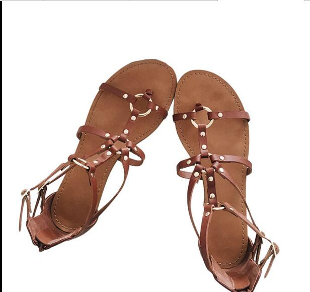 ФОТО Free shipping woman shoes brown color  very beautiful summer sandals buckle strap closure type beach summer sandals