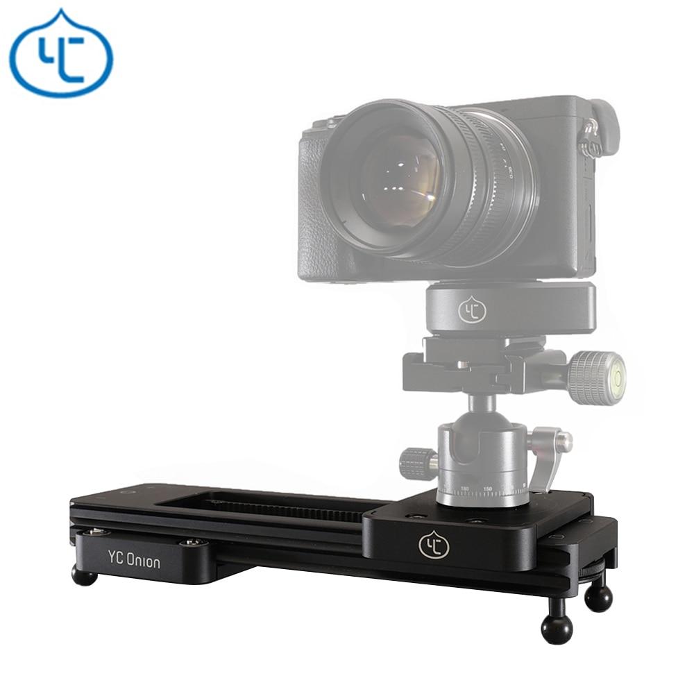 YC oignon chocolat caméra curseur en alliage d'aluminium léger Portable polyvalent Options de montage pour DSLR et appareil photo sans miroir