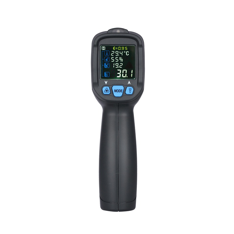 LCD Non-Contact Infrared Thermometer Hygrometer Temperature Humidity Meter Hygrometer With Remote Sensor Infrared Thermometer 0 6 lcd portable non contact infrared thermometer white 50 220°c range