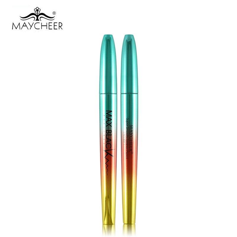 MAYCHEER 24H professionel sort eyeliner blyant vandtæt glat pensel - Makeup - Foto 4