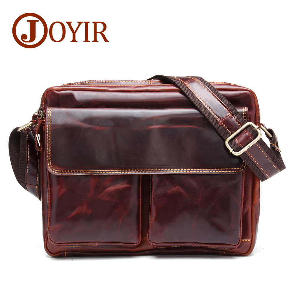 JOYIR Designer Genuine Leather Men Large Messenger Bags Casual Business Crossbody Bag Leather Shoulder Bags For Men Male Bag8701 цена 2017