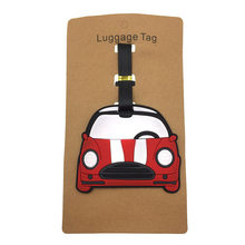 Cartoon Small Car Luggage Tags Travel Accessories Silica Gel Suitcase Kawaii Cute Portable Label Baggage Boarding Addres Holder(China)