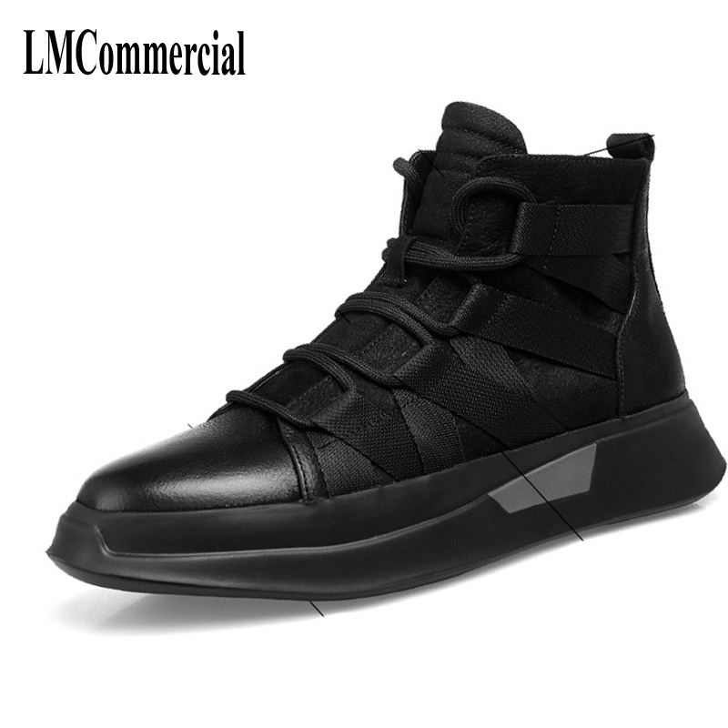 Leisure breathable sneaker wind thick bottom men Martin boots fall short canister shoes Korean matte leather boots Chelsea male short boots woman the fall of 2017 a new restoring ancient ways british wind thick boots bottom students with martin boots