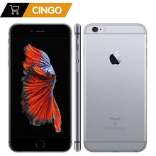 Original Unlocked Apple iPhone 6 Plus 2GB RAM 16/32/64 / 128GB ROM Mobiltelefon IOS 9 A9 Dual Core 12MP kamera 5.5 'IPS LTE telefon