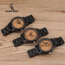BOBO BIRD Male Power Game Wooden Watches Fashion Uomo Orologio Antique Watches in Gift Box