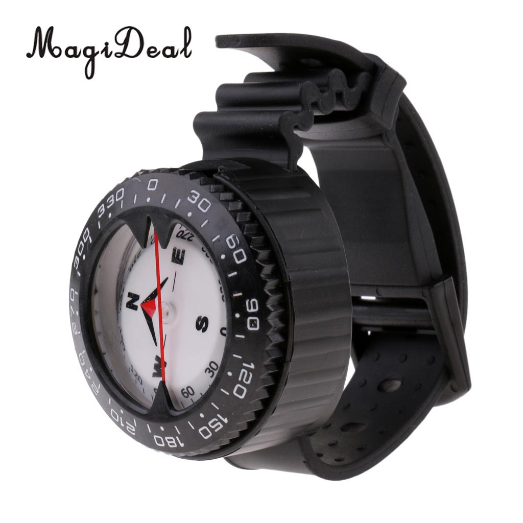 MagiDeal Scuba Compass Wrist Navigation Gauge for Dive Diving Snorkeling Water Sports