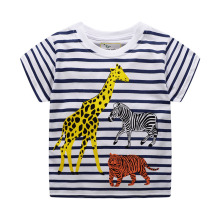 Summer Baby Kids Boys T Shirt Cartoon Animals Leopard And Lion Children Girls Tops Tees Clothing
