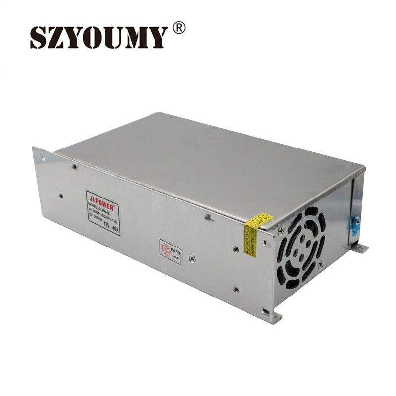 SZYOUMY 5 pièces 12 V 40A 480 W Alimentation à découpage Conducteur pour LED Bande AC 110-240 V Entrée à DC 12 V expédition Rapide par DHL