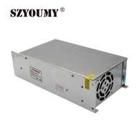 SZYOUMY 5PCS 12V 40A 480W Switching Power Supply Driver for LED Strip AC 110 240V Input to DC 12V Fast shipping by DHL