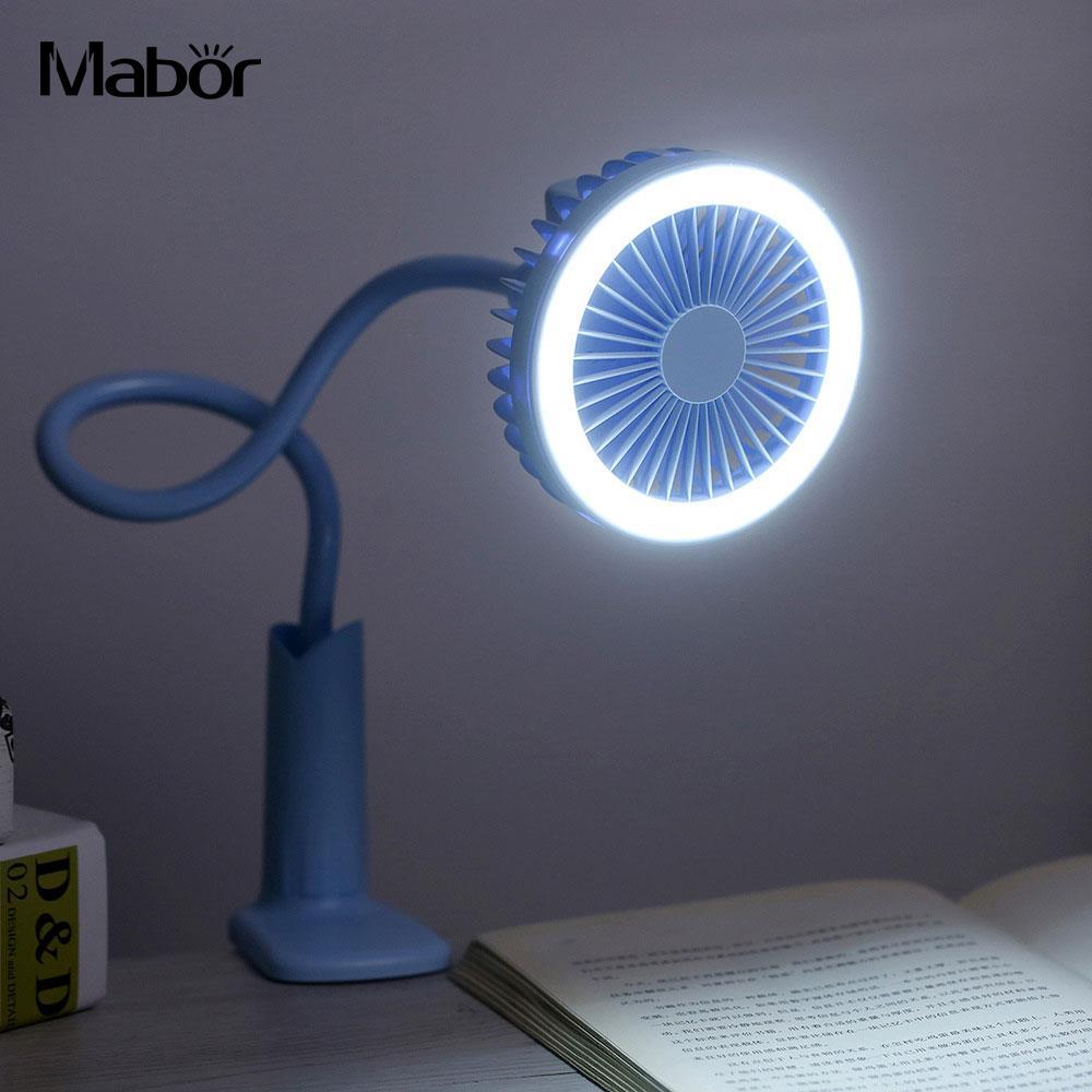 LED Clip Klemmleuchte Studie Mini Fan Lesen Licht Taschenlampe Klavier Flexible Buch Lampe COB Baby Kinderwagen Schreibtisch Lampe Nacht Lampe
