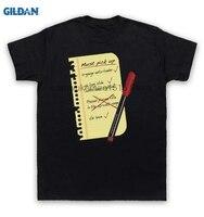GILDAN 100% Del Algodón Del O-cuello Camiseta impresa Terminator Camiseta Lista de Compras