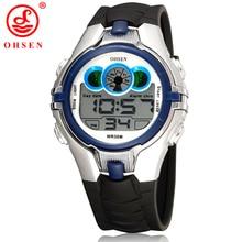 OHSEN Boys Kids Children Digital Sport Watch Alarm Date Chronograph LED Back Light Waterproof Wristwatch Student Clock AS21