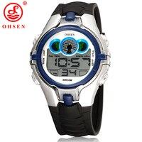 OHSEN Boys Kids Children Digital Sport Watch Alarm Date Chronograph LED Back Light Waterproof Wristwatch Student