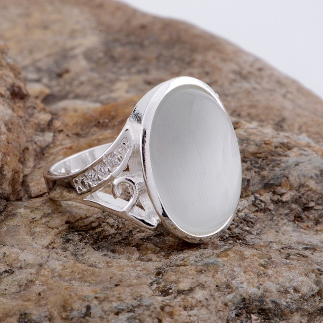 stone transparent graceful Wholesale silver plated ring 925 Fashion jewelry Silv