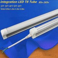 Integrated LED Tube T8 Light 9w 2FT 60cm 110V 220V LED Fluorescent Tube T8 Bulb