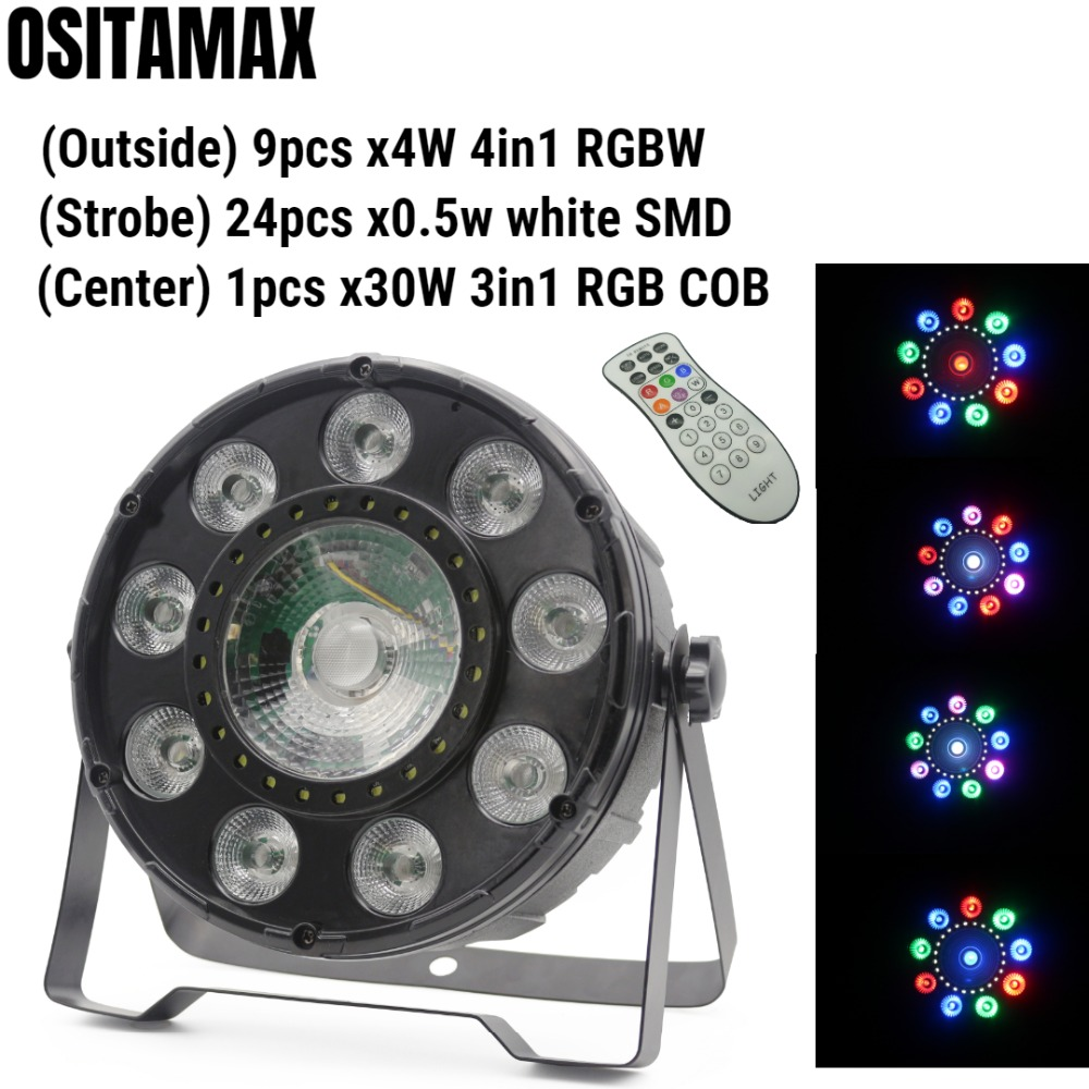 LED Par Light 9x4w RGBW with 24pcs SMD 30W RGB 3IN1 COB Par IR Remote DJ Equipment LED Stage Par Light free shippingLED Par Light 9x4w RGBW with 24pcs SMD 30W RGB 3IN1 COB Par IR Remote DJ Equipment LED Stage Par Light free shipping
