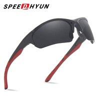 Speedhyun продвижение нового бренда черный Для мужчин поляризационные Солнцезащитные очки для женщин UV400 высокого качества Открытый Спорт Брен...