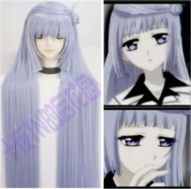 100CM High Quality Heat Resistant Kurenai Maria Wig Vampire Knight Cosplay Wigs Long Light Purple Sexy Synthetic Hair Anime Wigs