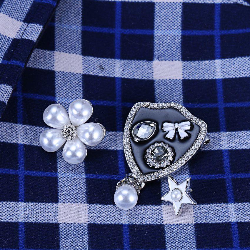 43b9f553b Novo Conjunto de Pinos Broche Mulheres Broches Collar Presentes Do Feriado  Flor Esmalte Jóias Acessórios Crachá Roupas Decorações