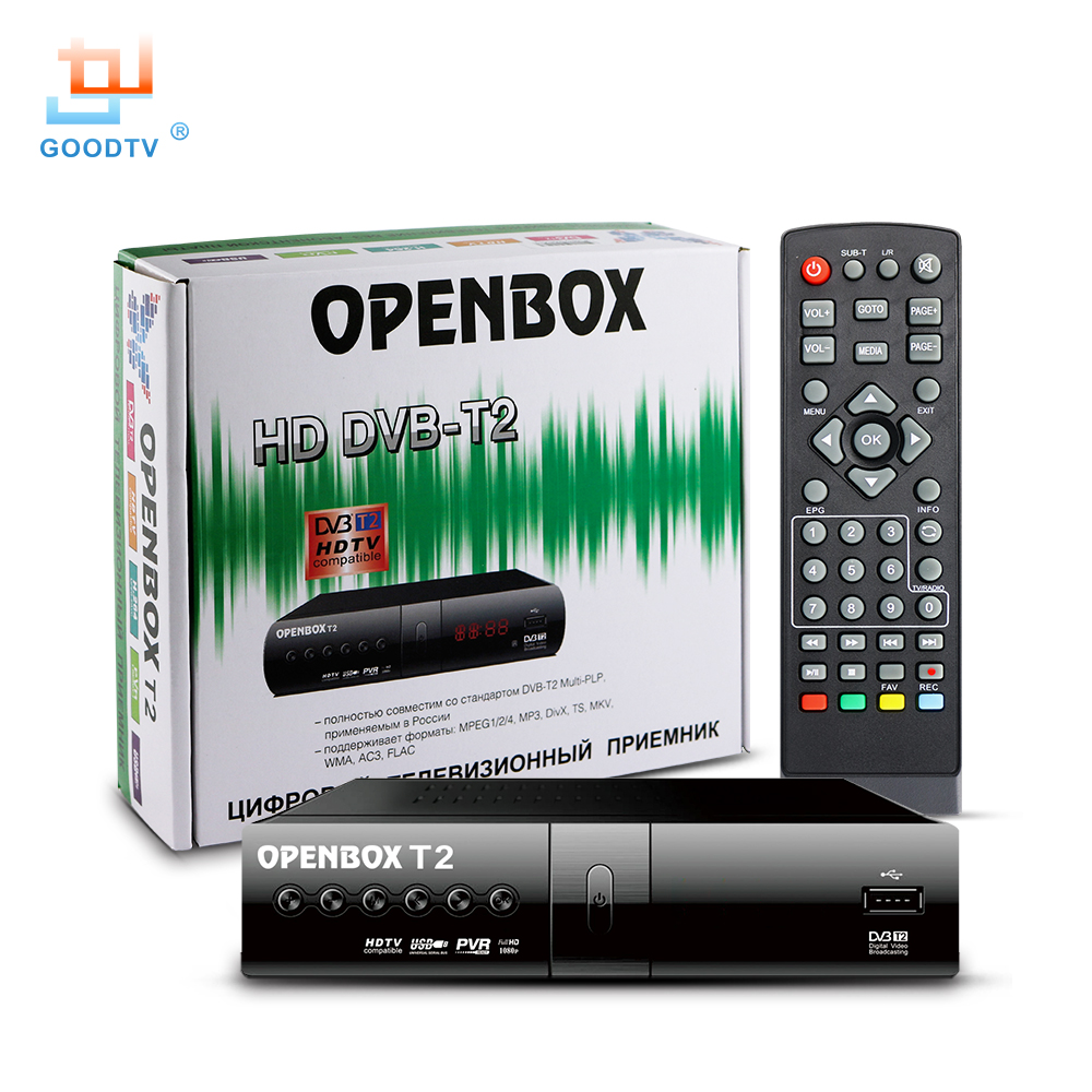 Digital TV Receiver OPENBOX DVB T2 HD Set-top Box Television Set MPEG-4 USB DVB-T2 Smart TV Box LED Display Set Top box GOODTV