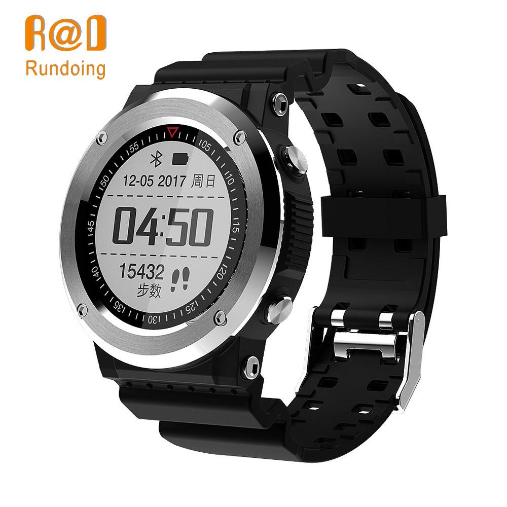Galleria fotografica Rundoing Q6 GPS <font><b>Smartwatch</b></font> GPS Bluetooth 4.0 di Smart Watch Sedentario Ricordare Informazioni Push Monitor di Frequenza Cardiaca Contapassi