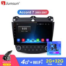 Junsun 2G+32G Android 9.0 For honda accord 7 2003 -2007 Auto 2 din Car Radio Stereo Player Bluetooth GPS Navigation No 2din dvd(China)
