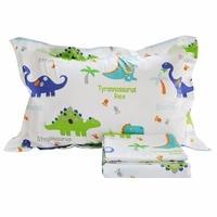 FADFAY Home Textile 100 Cotton Kids Dinosaur Cover Sets Bedding Set Boys Bed Bedding Cute Cartoon