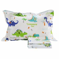 FADFAY Home Textile 100% Cotton Kids Dinosaur Cover Sets Bedding Set Boys Bed Bedding Cute Cartoon Duvet Cover Sets Twin Size