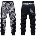 Hombres Camo Basculador Pantalones Patchwork Diseño Hombres Camuflaje Patrón Joggers Sweatpants Ocasionales Esquilmado Autumn & Winter Envío Gratis