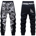 Men Camo Jogger Pants Patchwork Design Mens Camouflage Pattern Joggers Casual Sweatpants Fleeced Autumn & Winter Free Shipping