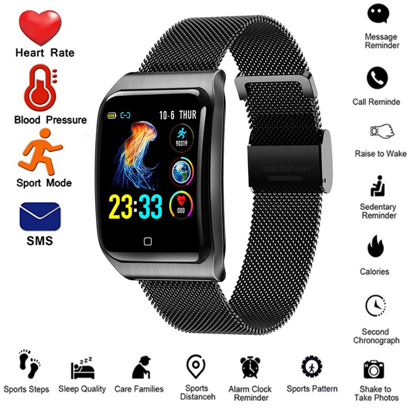 man Smart bracelet pressure health measurement intelligent pulsometr with fitness smart watch blood Waterproof Wrist band IP67 image