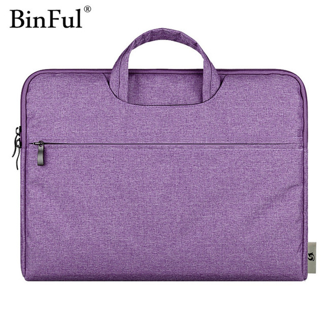 BinFul Soft Sleeve Portable Laptop Bag Case For Macbook Air Pro Retina 11 12 13 15 Bags Carry Pouch Cover Notebook 14 15.6''