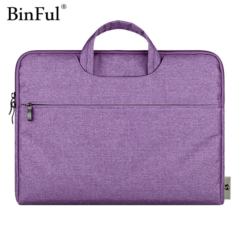BinFul Soft Sleeve Portable Laptop Bag Case For Macbook Air Pro Retina 11 12 13 15 Bags Carry Pouch Cover Notebook 14 15.6