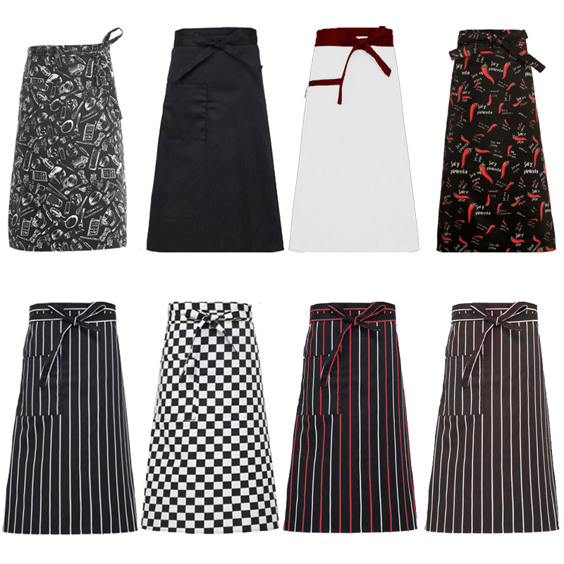 Power Source Garden Supplies Kitchen Apron Half-length Long Waist Catering Chefs Waiters Cooker Tools Uniform