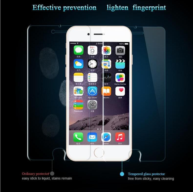 Wang cang li 5pcs tempered glass for iphone 4s 5 5s 6 6s plus 7 plus screen protective film protective film front cover + set 5