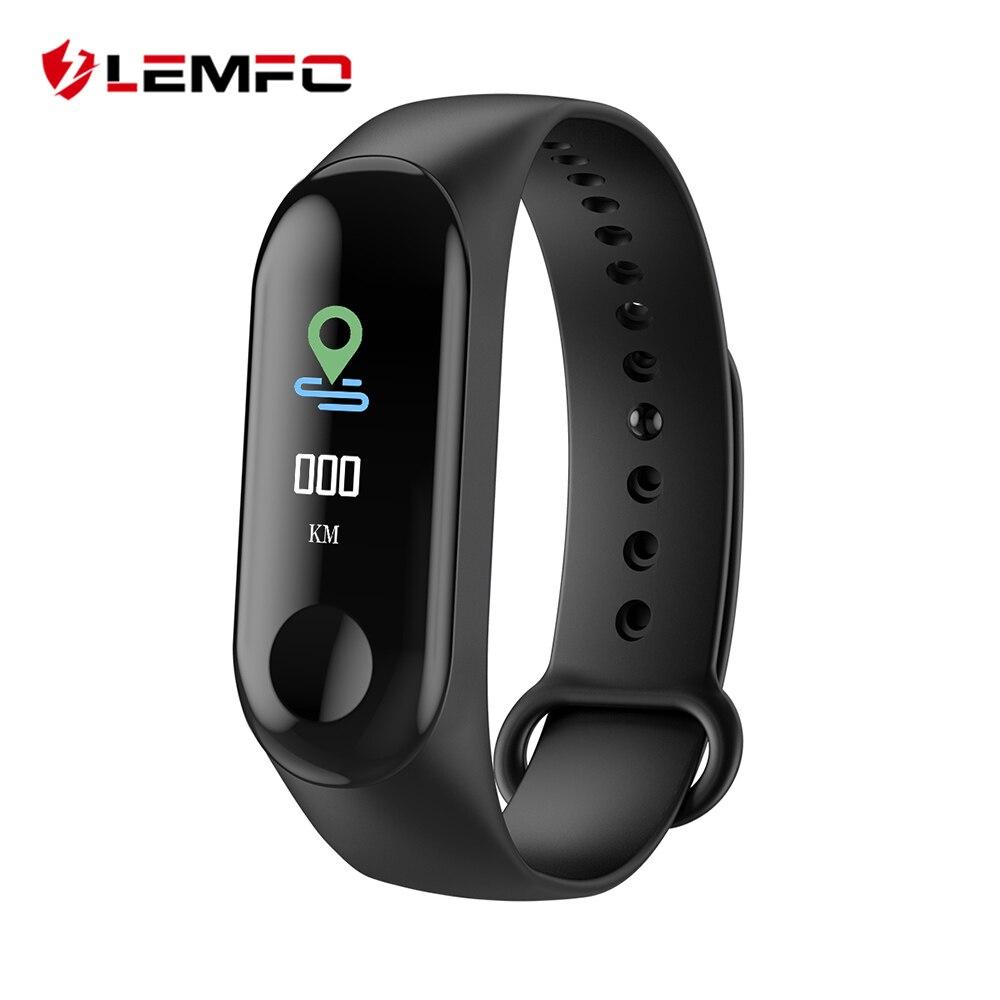 LEMFO W3 Color de pantalla inteligente reloj de pulsera de Fitness IP68 impermeable sangre presión oxígeno rastreador de actividad para los hombres las mujeres