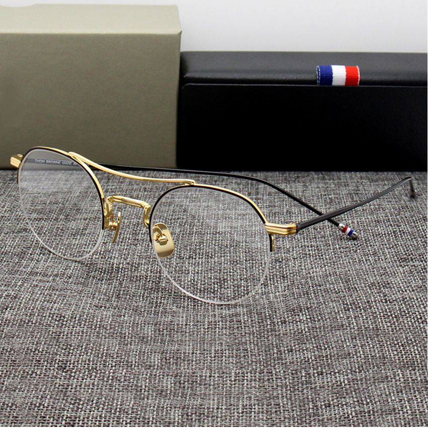 Thom Round Glasses Alloy Lightweight Eyeglasses Optical Prescription Glasses Frame Men Spectacle Women TB Oculos De Grau 903