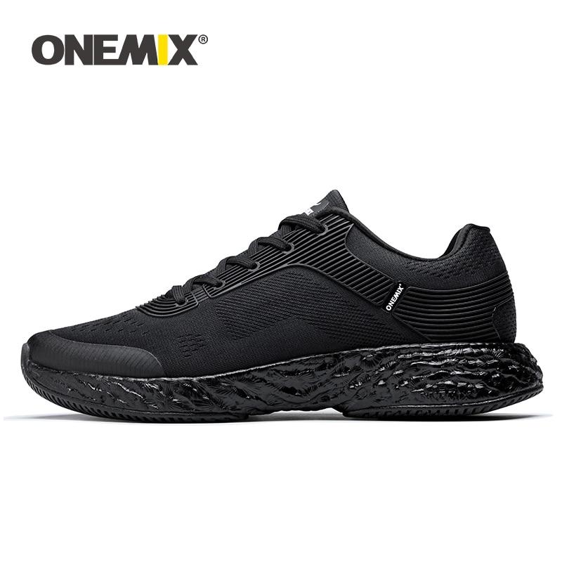 ONEMIX 2019 รองเท้าผู้ชายรองเท้าผ้าใบน้ำหนักเบากีฬารองเท้าสบายๆแฟชั่น Breathable Jogging รองเท้าเทนนิสขนาด 47-ใน รองเท้าลำลองของผู้ชาย จาก รองเท้า บน   1