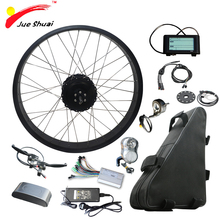 цена на 26 4.0 Fat Tire Bike Electric Bike Kit with 48V 20ah Lithium Battery Fat Bike Rear Motor Wheel Electric Complete Ebike Kit