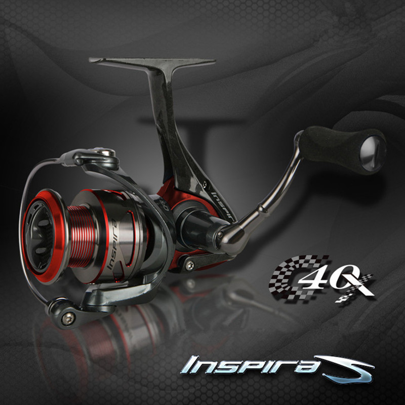 Okuma Inspira Fishing Reel 5.0:1 Gear Ratio C40X carbon coil design saltwater Carp bait Spinning Reels professional jigging reel lawaia 11 axis drop round saltwater fishing reels big games speed ratio 6 3 1 cup capacity 2 210 carp fishing reel fish vessel
