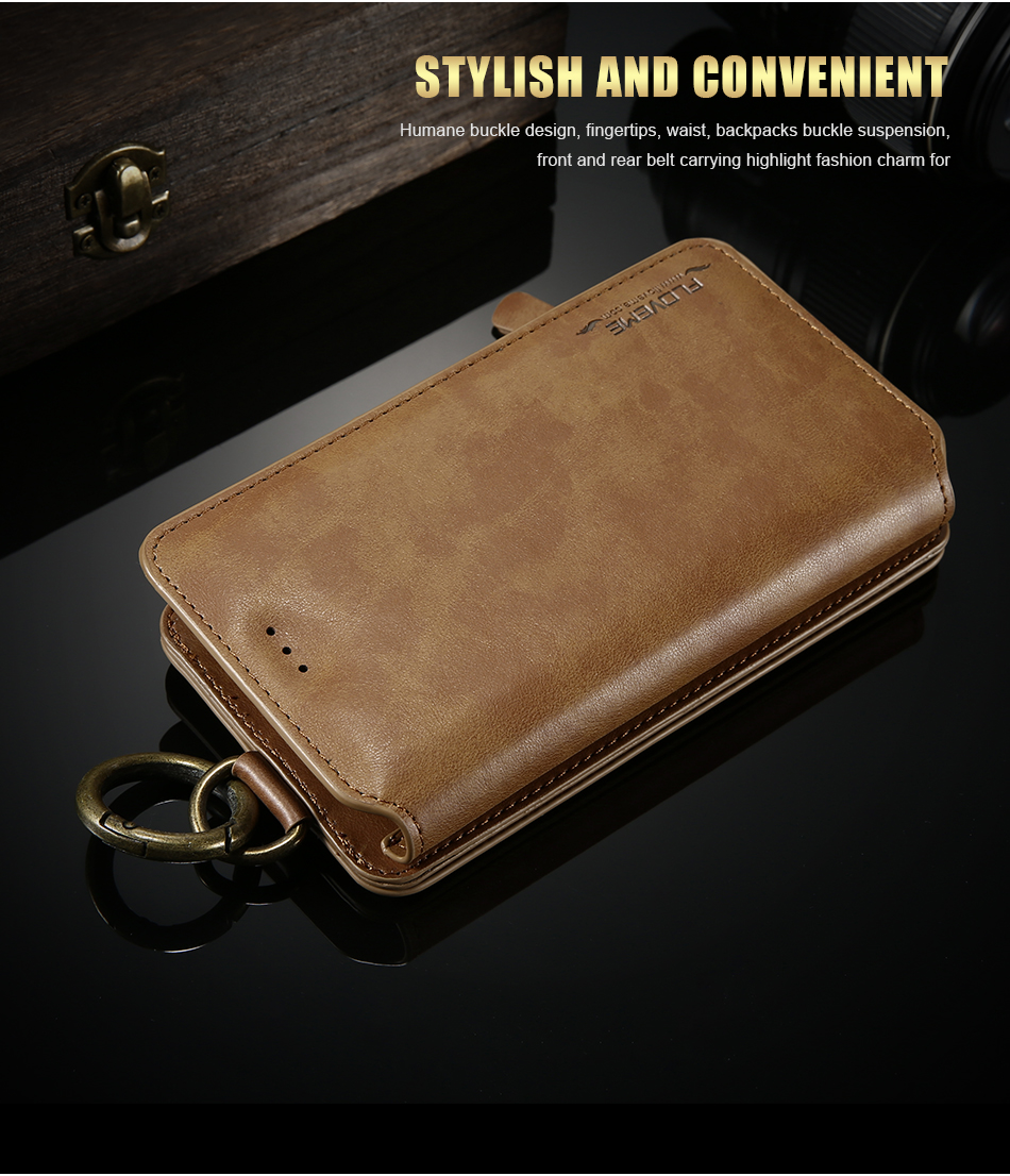 FLOVEME Hybrid Detachable Leather Case For Samsung Galaxy S7 Edge 18 Card Slot Metal Zipper Cash Storage Wallet Pouch Cover Bag (8)