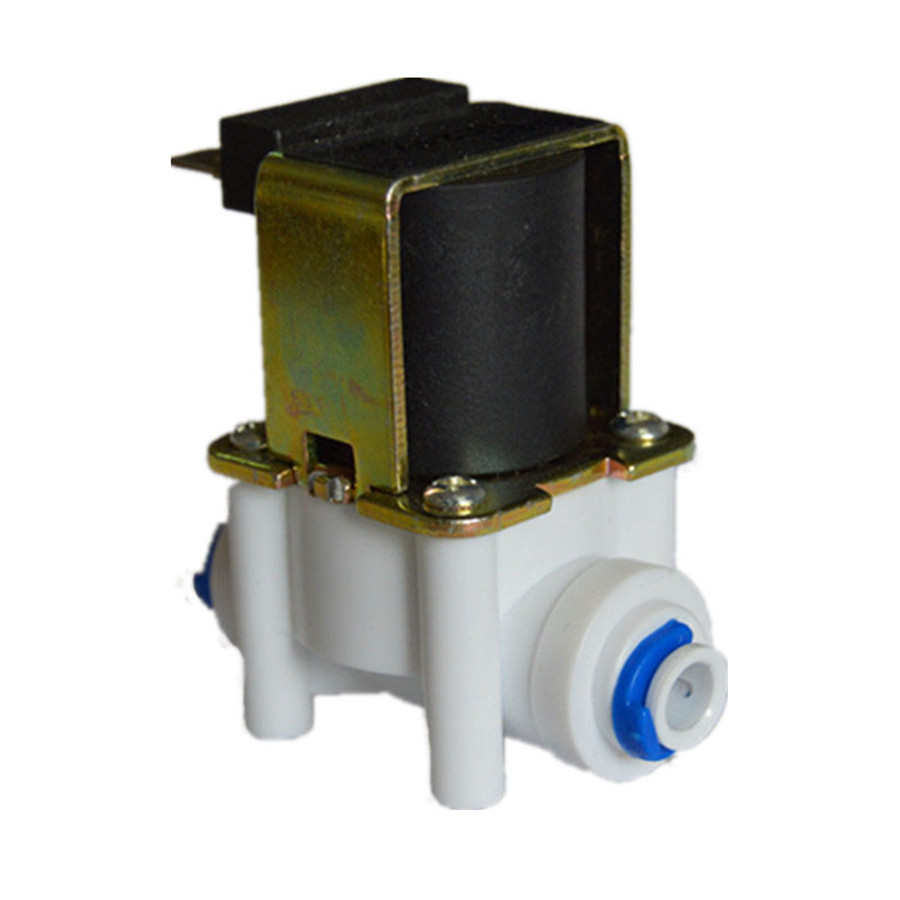 magnetic valve solenoid valve water purifier valve 12Vdc 24Vdc N/C ID6.35mm quick push in connect 1/4 for RO machine